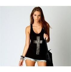 Reg/Plus Size Black/White Sequined Casual T Shirt