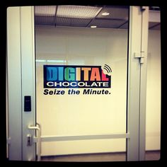 Signage at Digital Chocolate