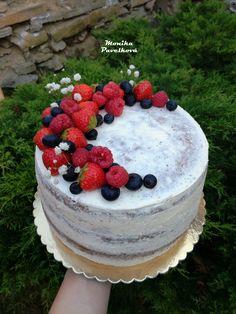 Fruit naked CAKE. DORT nahý s ovocem. My Birthday Cake, Birthday Ideas, Tortellini Alfredo, Cake Bars, Cake Decorating Techniques, Sweet Treats, Cheesecake, Food And Drink, Fruit Cakes