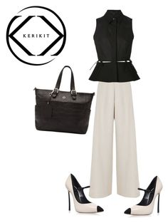 """SHOP - KeriKit"" by ladymargaret ❤ liked on Polyvore featuring Nicole Coste, Alexander Wang and Casadei"