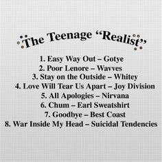 Friday Playlist: The Teenage Realist