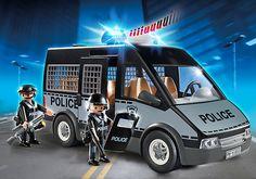 Furgón de Policía con Luces y Sonido - 6043 - Playmobil® España