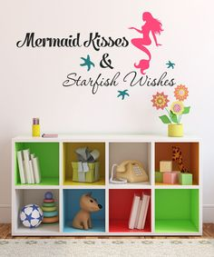 Look at this Mermaid Kisses Decal Set on #zulily today!