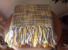 New Yellow Ochre And Grey Chunky Knitted Throw Blanket Can Post Next Day Ochre Bedroom, Grey And Gold Bedroom, Mustard Bedroom, Yellow Throw Blanket, Living Room Plan, Grey Yellow, Mustard Yellow, Yellow Nursery, Guest Room Office