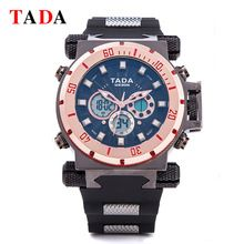 SALE US $16.8 - Top Luxury Brand TADA 3ATM Wateproof Big Dial Watches Men Digital Quartz Dual Movement  Men Military Watches Relogio Masculino