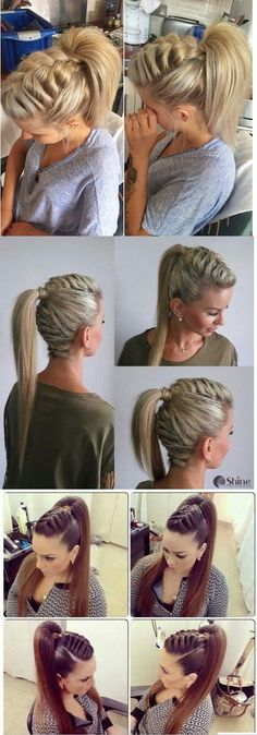 Twisted Crown Braid - 38 Quick and Easy Braided Hairstyles - The Trending Hairstyle Pretty Hairstyles, Girl Hairstyles, Braided Hairstyles, Wedding Hairstyles, Natural Hair Styles, Short Hair Styles, Hair Day, Hair Designs, Hair Hacks