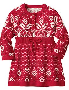 Knitting In Swedish Sweater Dress from Hanna Andersson- K