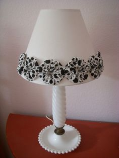 take a drab lampshade and give it some pizazz.