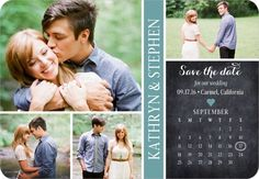 Cherished Calendar - Save the Date Magnets in Walnut or Seafoam | Jenny Romanski