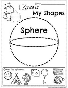 Looking for awesome shapes worksheets and games to use in your classroom? This and Shapes - Kindergarten Math Unit is filled with hands-on activities and no-prep worksheets to help children learn about and use shapes. Shapes Worksheet Kindergarten, Kindergarten Math Activities, Preschool Math, Kindergarten Worksheets, 3d Shapes Worksheets, Math Games, First Grade Math, Math For Kids, Kids Learning