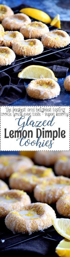 Glazed Lemon Dimple Cookies - Lord Byron's Kitchen