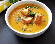 [Recipe] Sweet Potato & Chickpea Soup, Vegan Friendly & Dairy Free - Fuss Free Cooking