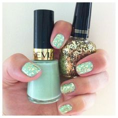 Mint and gold. Yes please!