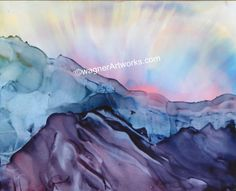 alcohol ink print by WagnerArtworks