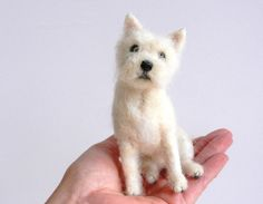 """craftbloguk: """" needle felted Westie-Robbie by adore62 on Flickr. Needle felted west"""