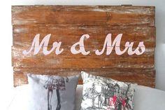 Cabecero de cama para los recién casados, de Rue Vintage 74 (260€).