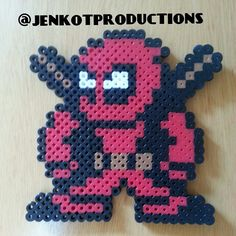 Deadpool perler beads by jenkotproductions