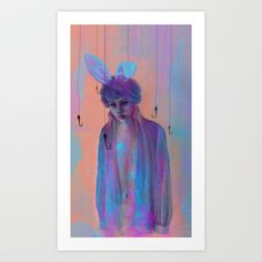 Chasing+Rabbits+Art+Print+by+Georgiath+-+$18.00
