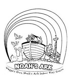 Noah Ark Rainbow Coloring Pages Sketch Template