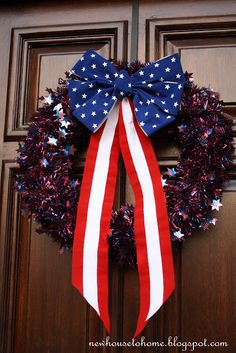 New House to Home: Quick and Easy July 4th Wreath