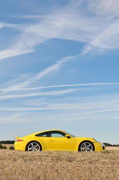 Porsche 911 Carrera #porsche - Yellow Car