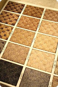 picking out carpetin