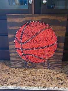 Basketball String Art created for my toddler's room  24 x 24