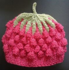 pink raspberry shaped soft knitted hat for от BaByPrOdUcTsByGaLiNa