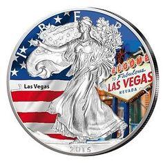 USA 1 Unze Silber Eagle Farbe 2015