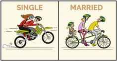 10 Illustrations of How A Man's Life Changes After Marriage -  ##bachelorhood ##life ##marriage ##single ##singleVSmarried ##weekend