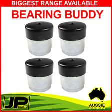 4x Bearing Buddies Dust Caps Hubs Greasable Trailer Hub, Drums Disc Hubs Caravan