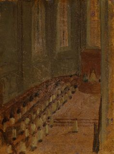 Ceremonie D'ordination dans la Cathedrale de Lyon, by Degas, Degas, Edgar