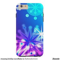 stunning holiday snowflakes tough iPhone 6 plus case
