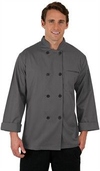 Basic Fit Chef Coat - Plastic Buttons - 65/35 Poly/Cotton