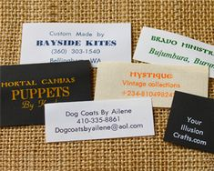 Clothing labels, apparel woven label, satin label, sewing labels