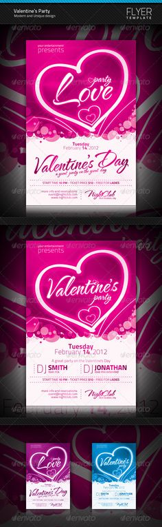 Valentine's Party Flyer | $6