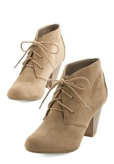 Have I Got Shoes for You! Bootie. Your search for the perfect pair is over, all thanks to these taupe booties! #tan #modcloth
