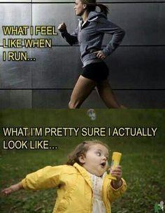 Laughing.
