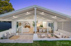 Incredible home transformation in Brisbane. Alfresco Designs, Alfresco Area, Outdoor Living Rooms, Hamptons House, Dream House Exterior, Facade House, Outdoor Entertaining, Backyard Patio, Home Reno