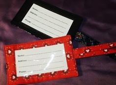 Quilted luggage tag tutorial