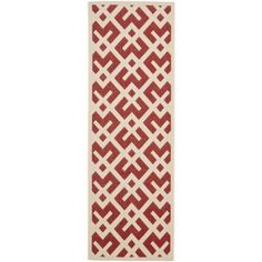 Safavieh Courtyard Alvin Power-Loomed Indoor/Outdoor Area Rug or Runner, Red
