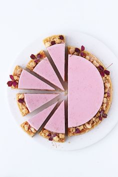 rhubarb pie with frangipane and rhubarb mousse