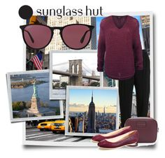 """""""Celebrate in Every Shade with Sunglass Hut: Contest Entry"""" by crazy4orcas ❤ liked on Polyvore featuring Ray-Ban, Marc by Marc Jacobs, Lacoste and Dex"""