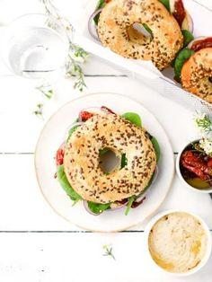 Homemade Sandwich Bread, Sandwich Bread Recipes, Homemade Bagels, Healthy Bagel, Vegan Bagel, Healthy Food, Gluten Free Bagels, Low Carb Bagels, Mexican Food Recipes