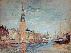 1874 Claude Monet. Vue de la tour Montaubaen, Amsterdam