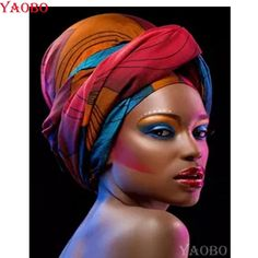 African Head Wraps For LadiesLatest African head wrap styles for beautiful and classy women is all w African Beauty, African Art, African Fashion, African Makeup, African Prints, Turbans, Headscarves, Black Women Art, Beautiful Black Women