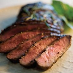 Grilled Flat Iron Steak With Spicy Rub. A simple dry rub gives a kick to a flavorful skirt steak in this recipe for the grill or stovetop. Venison Steak, Steak Rubs, Flank Steak, Dry Rub For Steak, How To Grill Steak, Grilling Recipes, Beef Recipes, Cooking Recipes, Recipies
