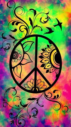 ☮ American Hippie Psychedelic Art ~ Peace Sign