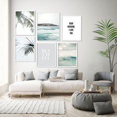 Modern minimalist wall art prints and home decor by OjuDesign Print Ark, Oju Design, Beach Coastal Art Home Decor Bedroom, Living Room Decor, Diy Home Decor, Bedroom Modern, Living Room Prints, Dining Room, Wall Art Decor, Wall Art Prints, Wall Art Sets
