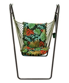 Loving this Black Swing Chair & Stand on #zulily! #zulilyfinds